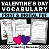 Valentine's Day Vocabulary Worksheets