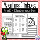 Valentine's Day Worksheets and Printables for PreK and Kin