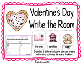 Valentine's Day Write the Room- Includes 3 levels of answer sheets