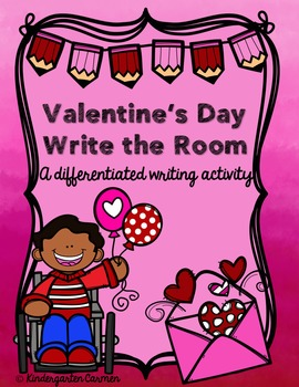 Valentine's Day Write the Room {Differentiated Writing act