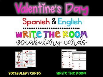Valentine's Day Write the Room {Dual Language}