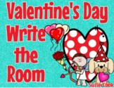 Valentine's Day Write the Room: Math and Reading