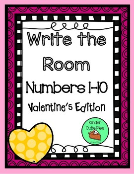 Valentine's Day - Write the Room - Numbers 1-10