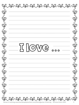 Valentine's Day Free: Valentine's Day Writing Sheets