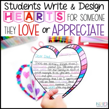 Valentine's Day Writing: 3-D Hearts Activity