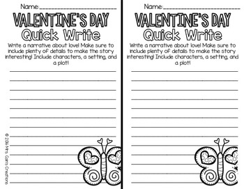 Valentine's Day Writing Activities Pack