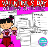 Valentine's Day Writing Activities for first grade