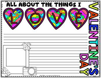 Valentine's Day Writing Activity: Valentine's Day Writing Paper