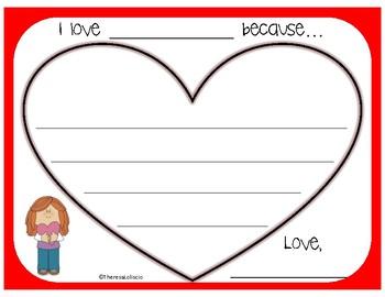 Valentine's Day Writing Activity