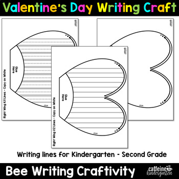Valentine's Day Writing Activity Craft - Bee Craftivity