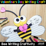 Valentine's Day Writing Activity Craft - Bee Craftivity