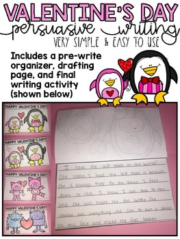 Valentine's Day Writing Activity: Easy to Use!