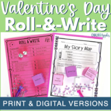 Valentine's Day Writing Activity - Roll & Write Center