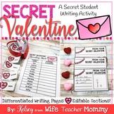 Valentine's Day Writing Activity- Secret Valentine Writing Prompts.