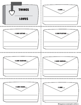 Valentine's Day Writing Activity - Things I Love