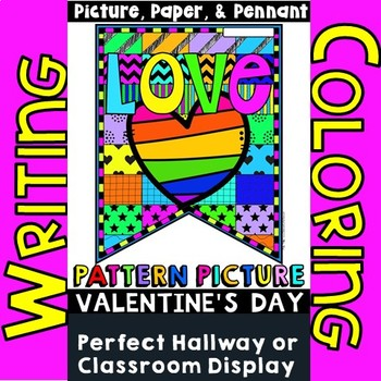 "Valentine's Day Writing ""Pattern Picture"" Valentine's Day Banner"