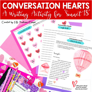 """Shakespeare """"Sonnet 18"""" Writing Activity {Great for Valentine's Day}"""