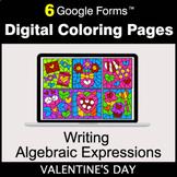 Valentine's Day: Writing Algebraic Expressions - Digital C