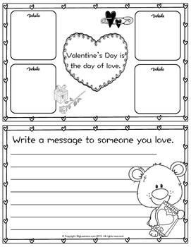 Valentine's Day Writing Booklet