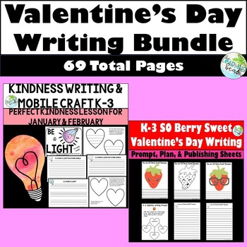 Valentine's Day Writing Bundle for K-3 {2 Kindness Resources}