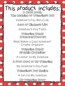 Valentine's Day Writing Center BUNDLE   Letter, Recipe, Lists, Poem, Card, Story
