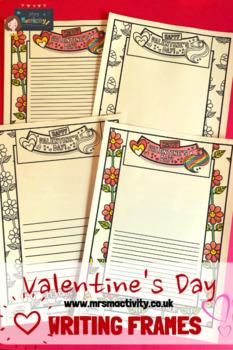 Valentine's Day Writing Frames