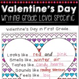 Valentine's Day Writing Grade Specific (1st, 2nd, 3rd, 4th & 5th Grade!)