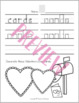 Valentine's Day Writing Handwriting Practice Sheets - Valentines Day Activities