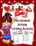 Valentine's Day Writing: Newspaper Article Activity