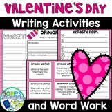 Valentine's Day Writing and Word Work Activities