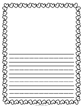 Valentine's Day Writing Pages- Primary