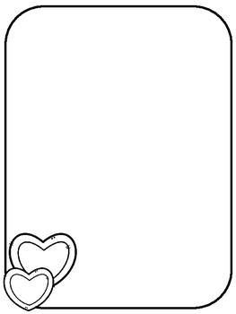 Valentine's Day Writing Paper - Primary Junior