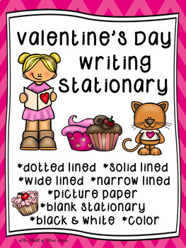 Valentine's Day Writing Paper/Valentine's Day Writing Stationary--DIFFERENTIATED