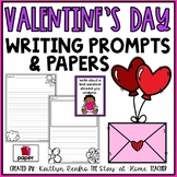 Writing Papers and Prompts - Valentine's Day