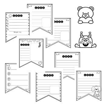 Valentine's Day Writing Pennant Banner {February}
