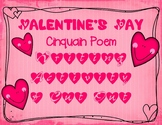 Valentine's Day Writing Poetry Cinquain Poem Instructions