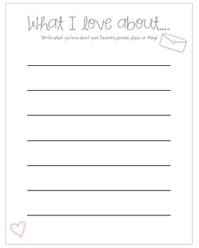 Valentine's Day Writing Printable