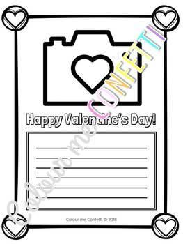 Valentine's Day Writing Printables - Colour me Confetti