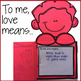 Valentine's Day Writing Prompt Craft Activity for Elementary School Counseling