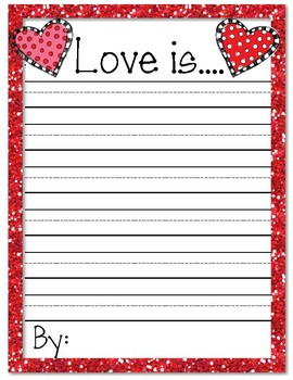 Valentine's Day Writing Prompt: Love Is...
