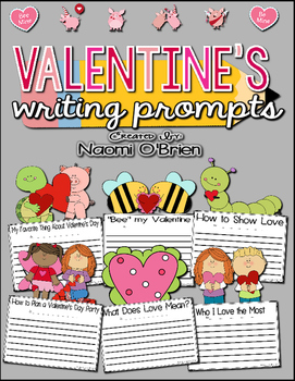 valentines writing prompts Valentine writing prompts for kids invite them to write a letter from a pet, think of reasons they love someone, or plan a tasty valentine dessert.