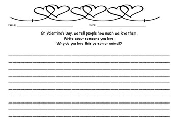 Valentine's Day Writing Prompts