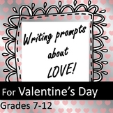 Valentine's Day Writing Prompts - Holidays in Secondary