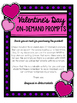 Valentine's Day Writing Prompts On-Demand (Opinion, Narrat