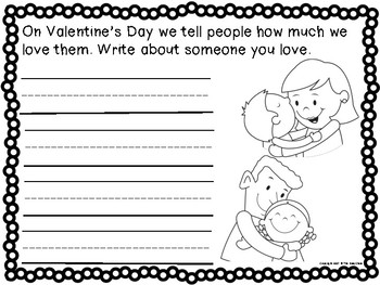 Valentine's Day Writing Prompts (for Kindergarteners)