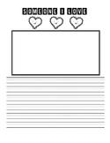 Valentine's Day Writing (Someone I Love)