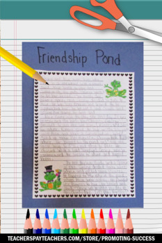 Valentine's Day Writing Interactive Notebook, Story Elements Craftivity