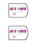 Valentine's Day Writing Tags