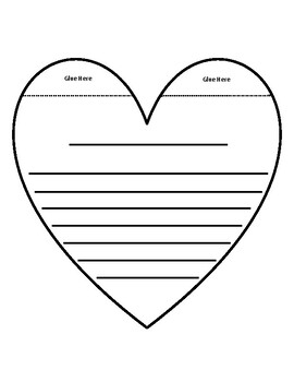 Valentine's Day Writing Template