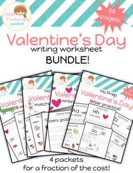 Valentine's Day Writing Worksheets Bundle